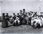 [Performers in period costume at the Century of Progress Pageant of Transportation.]