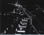 [View of the Century of Progress at night from the Skyride.]