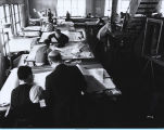 [A drafting room at the Century of Progress International Exposition.]