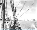 "[Admiral Byrd's flagship ""City of New York"" arrives in Chicago for A Century of..."
