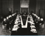 [Officials from Swift and Company assembled for a luncheon at A Century of Progress in 1933.]