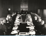 [Officials from the Illinois Manufacturers Association assembled for a luncheon at A Century of...