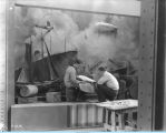 [A large-scale U.S. Steel diorama of a shipyard at A Century of Progress. The photo is undated.]