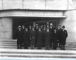 [A delegation of the Dairyman's Association visiting the Century of Progress. This photo is...