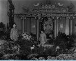 [A Chinese garden inside the Century of Progress Horticulture building. The photo is undated.]
