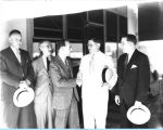 [Lenox R. Lohr, general manager of A Century of Progress, greeting the American Institute of...