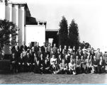 [The Century of Progress Promotion Department assembles for a group photograph. The photo is...