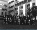 [Employees from the Treasury division of the Century of Progress Comptroller's Department pose for a