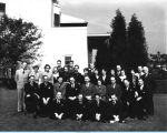 [Employees from the Concessions Department pose for a group photograph. The photo is undated.]