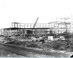 Construction of the Federal Building on Northerly Island adjacent to the Court of States exhibit....