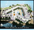 Color illustrated view of the Federal Building and the Court of States