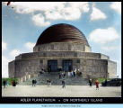 Exterior view of the Adler Planetarium on Northerly Island.