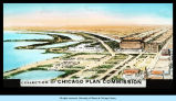[Chicago Plan Commission sketch of the Chicago lakefront area where the Fair was to be built. The large