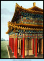 [Exterior view of the Chinese Lama Temple, which was a replica of the Buddhist temple at Jehol, China.]