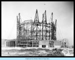 [The Travel and Transport Building under construction in preparation for the Century of Progress.]