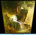 [A mural representing industry and industrialization. This picture depicts a Bessemer converter used