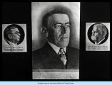 [Portrait of Woodrow Wilson, the twenty-eighth President of the United States. To the left is a...