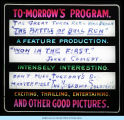 "[A sign announcing the 1913 silent motion picture drama, ""The Battle of Bull Run,"" a..."