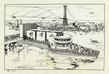 Artist's sketch of the Armour and Company building at the Century of Progress International Exposition,
