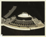 Model for Swift and Company's exhibit at the 1934 Century of Progress showing the water theater,...