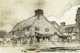 """Paul Revere's House for Colonial Village of New World's Fair. This faithful reproduction of the oldest"