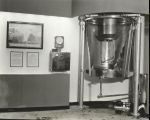 """Shown here is a milk irradiator used to put Vitamin D in milk by means of exposing the milk..."