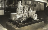 """To show what makes the wheels go 'round in a steam turbine, General Electric has this full-size 50 horsepower,"