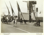 Parade in front of the Czechoslovakia pavilion at the Century of Progress International...