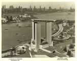 [An aerial view of the Federal Building at the Century of Progress International Exposition,...