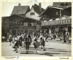[Dancers in costume at the Century of Progress Swiss Village.]