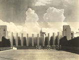 """North Entrance of the Hall of Science, a modern architectural masterpiece at A Century of..."