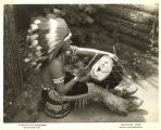 [Native American drumming at the Century of Progress Indian Village.]