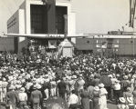 """Approximately 5,000 Italian-Americans gathered about the Italian government building of the..."