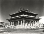 [Construction of the Chinese Lama Temple, a replica of the Tibetan-styled Potala palace in the former