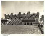 """The temple is a reproduction of one of the buildings of the Monjas, or Nunnery, at Uxmal,..."