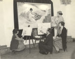 Art class at the Century of Progress Mexican Village.