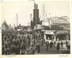 [Street view of the Beach Midway at the Century of Progress.]