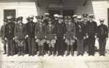 """These officers of the army, navy and marine corps command the various detachments at Camp Franklin D."