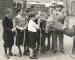 """'Have a World's Fair cane, boys,"" says Leon Mandel, general manager of Mandel Brothers,..."