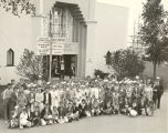 """A happy group of visitors after their first day at the new World's Fair from York and York County Pennsylvania."