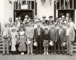 [A tour group from Reading, Pennsylvania visits the Century of Progress International Exposition.]