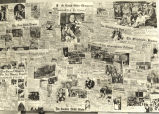 [Photo of collection of newspaper clippings demonstrating the extent of press coverage of A...