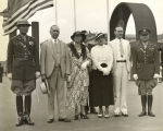"""Left to right - Mrs. Chester McCall, Mr. McCall, assistant secretary of commerce; Mrs...."