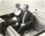 First Lady Mrs. Eleanor Roosevelt, wife of U.S. President Franklin Delano Roosevelt, tours the...