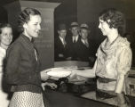 """Miss Evelyn Ronnestad of Minneapolis, Minn., was overjoyed today (Tuesday) when her purse, containing"