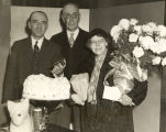 """Mrs. Helen Reid, of 808 East 42nd street, was the sixteenth and last millionth visitor to the World's"