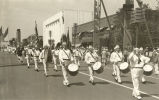 """The drum and bugle corps of the Calumet City American Legion post provided the martial music..."
