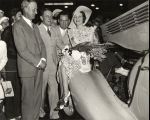 Studebaker's 'year ahead model' dedicatory ceremonies of the company's exhibit in the Travel and...