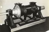 "[Model of boring machine invented by John ""Iron-Mad"" Wilkinson, an eighteenth-century..."
