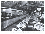 """Main dining room of the Heidelberg Inn. The restaurant was a replica of the world famous Heidelberg"